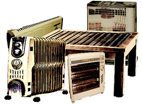 暖房機器の回収処分